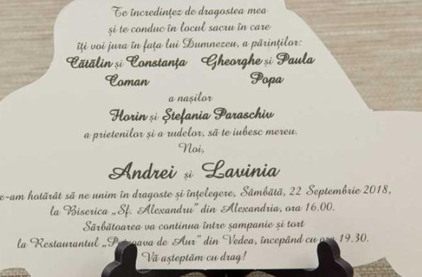 Formularea Invitatiei De Nunta Invitatii Nunta Invitatii