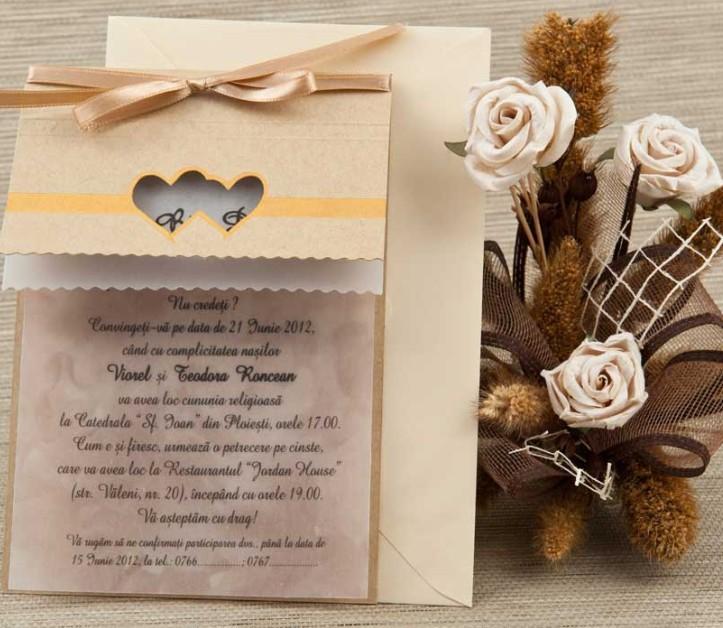 Invitatii Pentru O Nunta Cu Tematica Rustica Invitatii Nunta