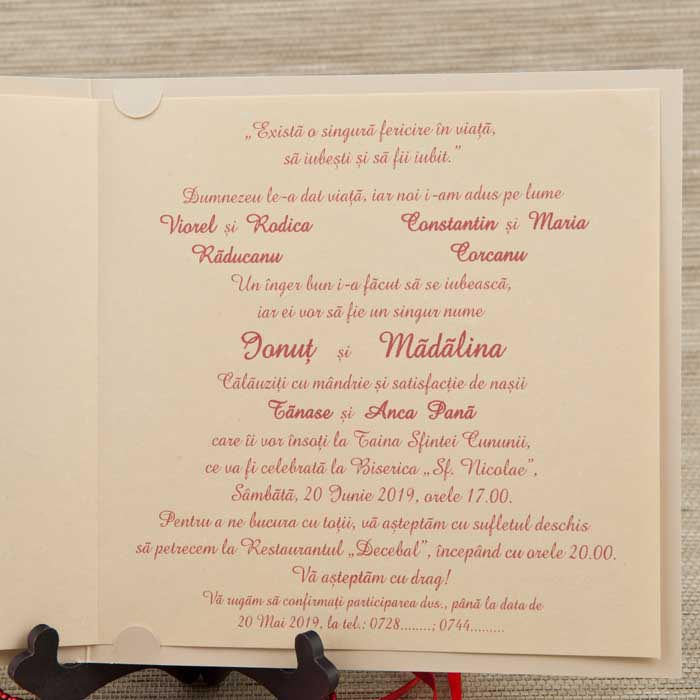 1033 Stoc Limitat Invitatii Nunta Invitatii Botez Marturii