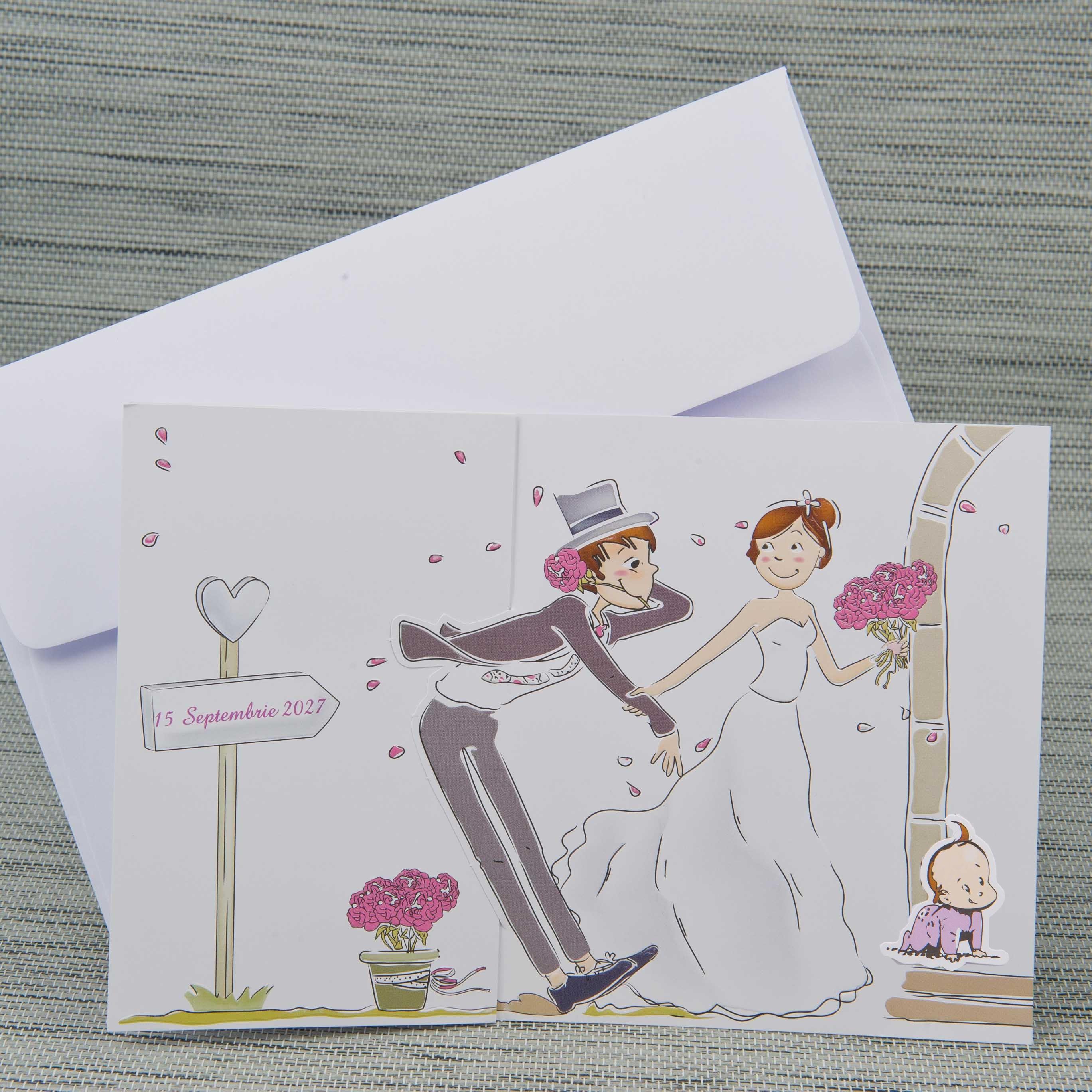 1163 2 In 1 Invitatii Nunta Invitatii Botez Marturii Plicuri