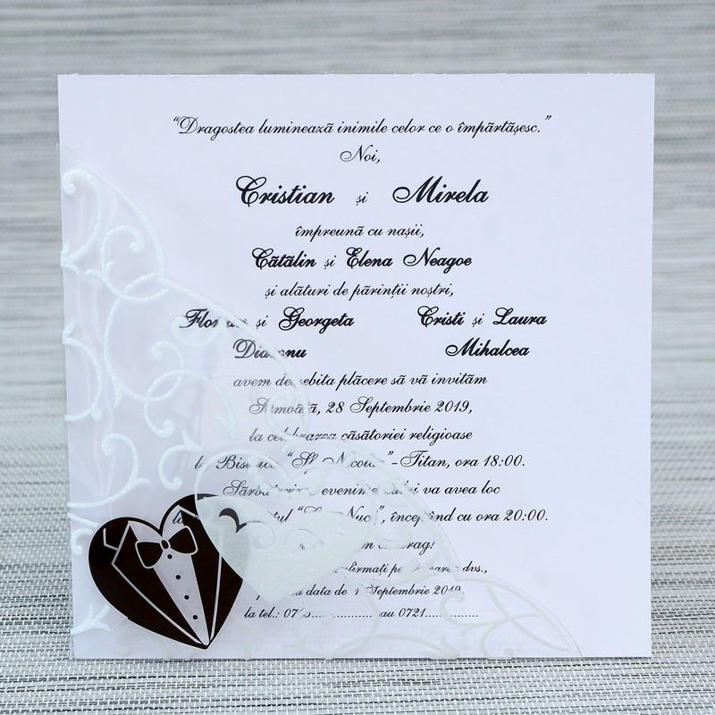 Cu Inimioare Invitatii Nunta Invitatii Botez Marturii Plicuri