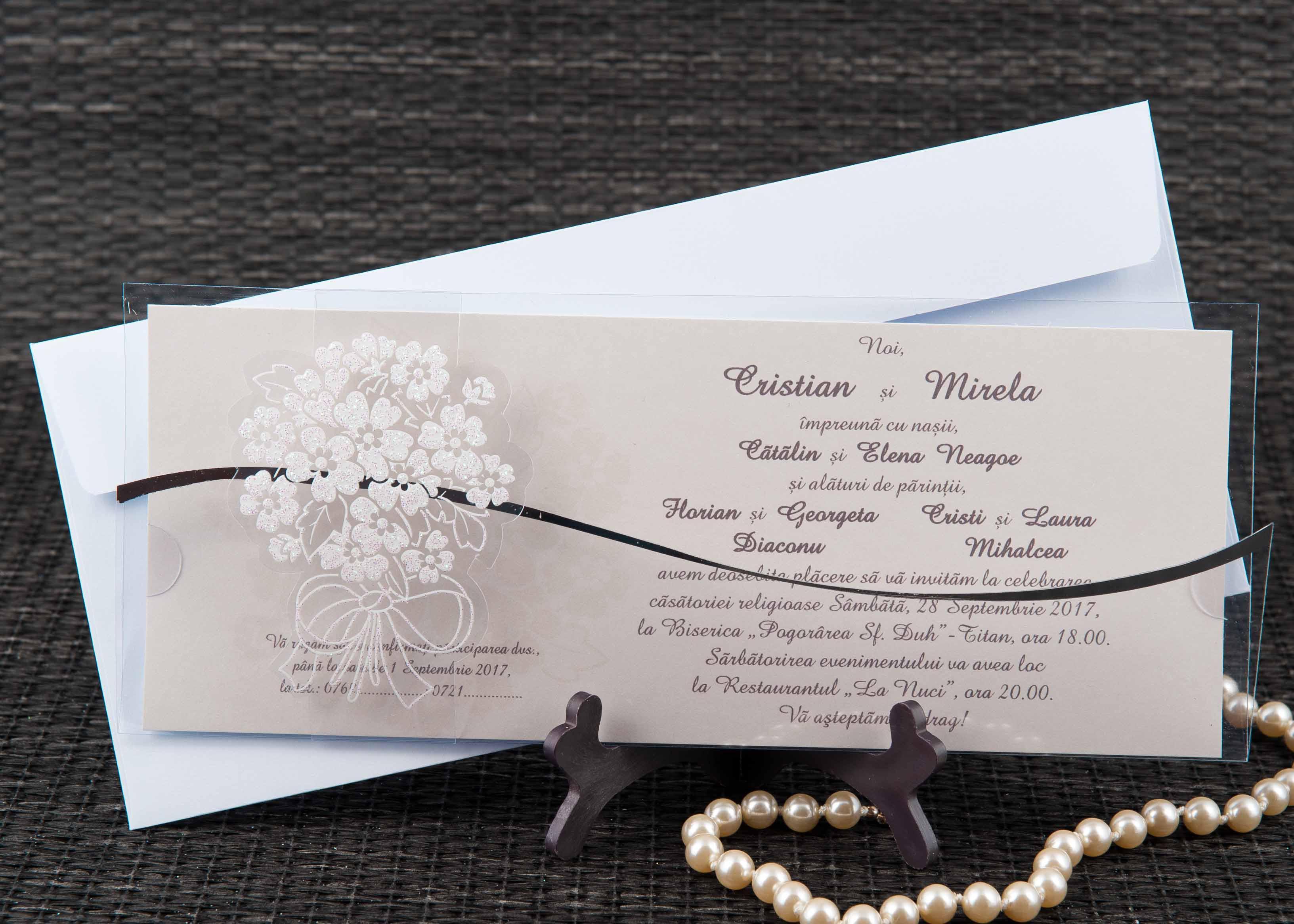 20466 Stoc Limitat Invitatii Nunta Invitatii Botez Marturii