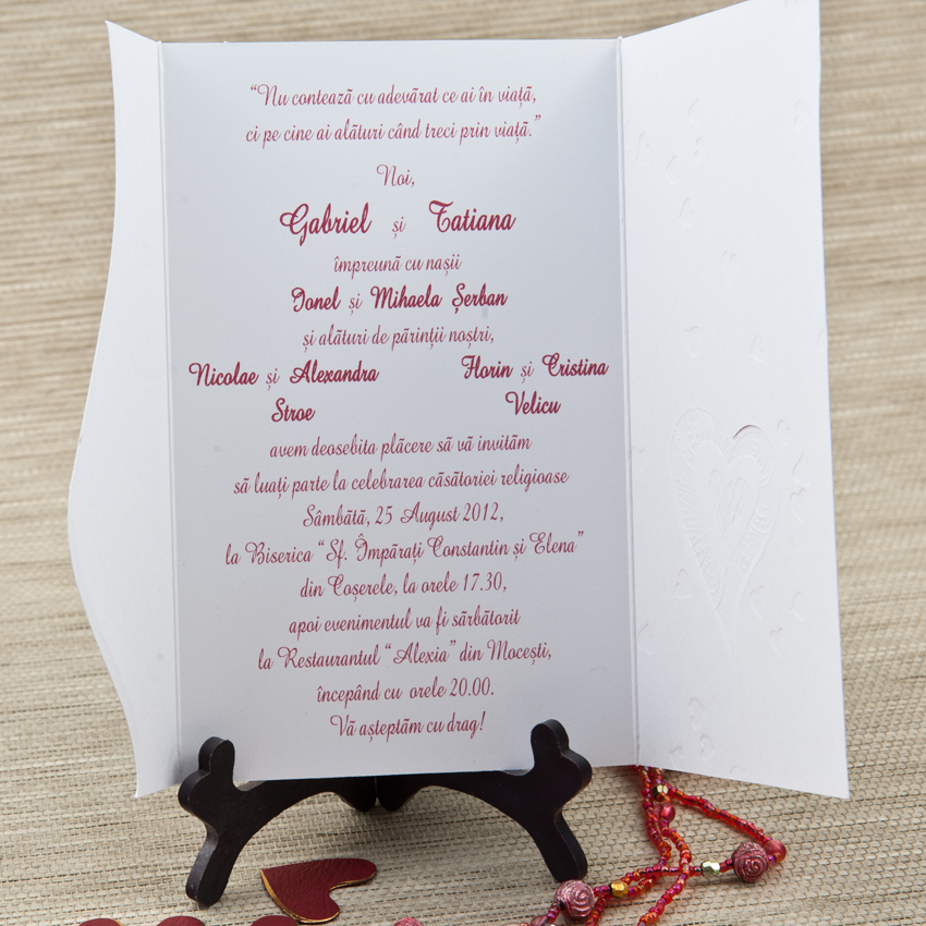 2451 Stoc Limitat Invitatii Nunta Invitatii Botez Marturii