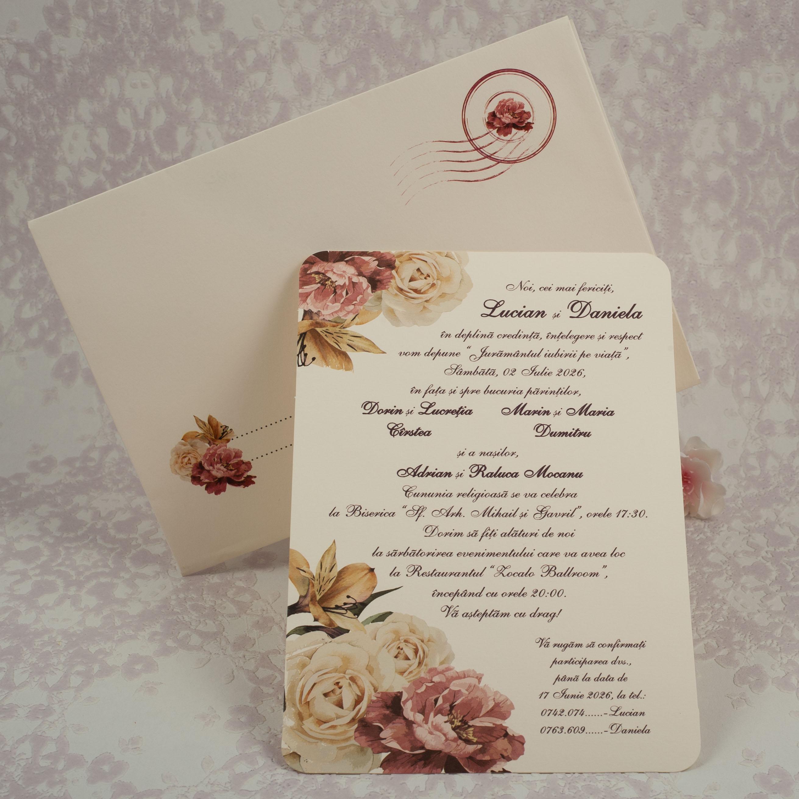 2182 Invitatii Nunta Invitatii Botez Marturii Plicuri Bani