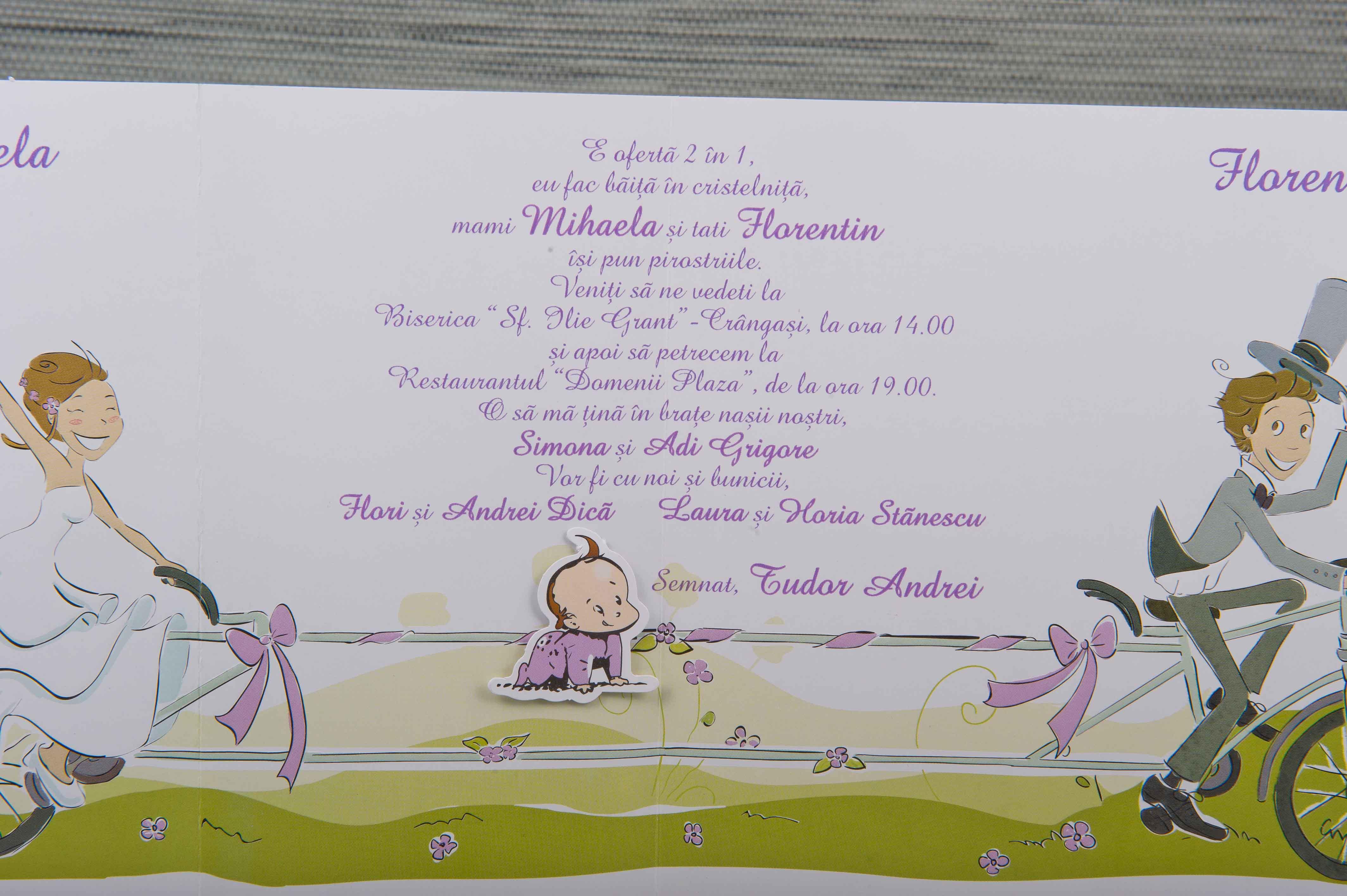 1049 2 In 1 Invitatii Nunta Invitatii Botez Marturii Plicuri